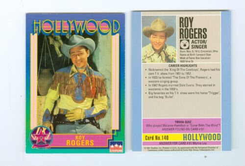 Roy Rogers Hollywood Walk of Fame card MINT westerns tv number 140