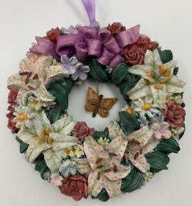 Bradford-Editions-LENA-LIU-Floral-Greetings-Wreath-Ornament-Circle-Of-Harmony