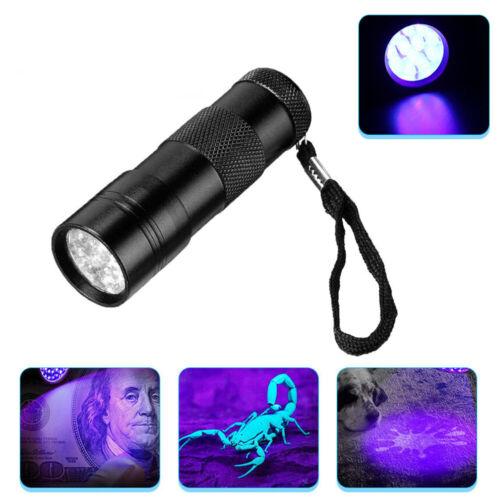 UV Ultra Violet  LED Flashlight Blacklight Light 395 nM Inspection Lamp Torch