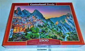 Puzzle 1500 Teile - Sunrise over Castelmezzano - C-151912-2 Neu 68 x 47 cm Neu