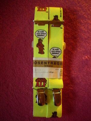 der Ausserirdische Neon-Gelb 70 cm Kinder Hosenträger Retro Motiv : ALF