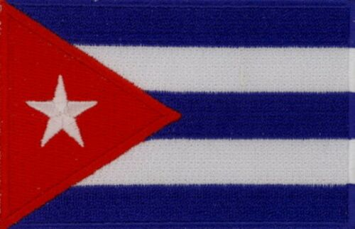 """3 Pcs Cuba Flag Embroidered Patches 3.5/""""x2.25/"""" iron-on"""