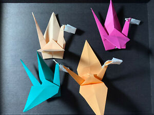 1 Origami Crane With Mask To Support East Winds / Taikoza -Arts Not For Profit