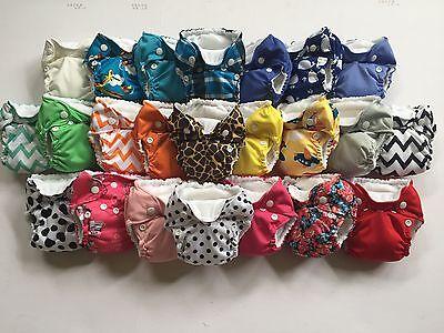 You Pick 12 THX Cloth Diaper All in one (AIO) fit Newborn - 13 lbs. NEW PRINTS