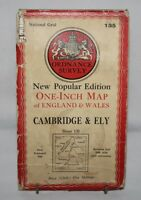 Ordnance Survey - One Inch Cloth Map - Cambridge & Ely - Sheet 135 - 1946