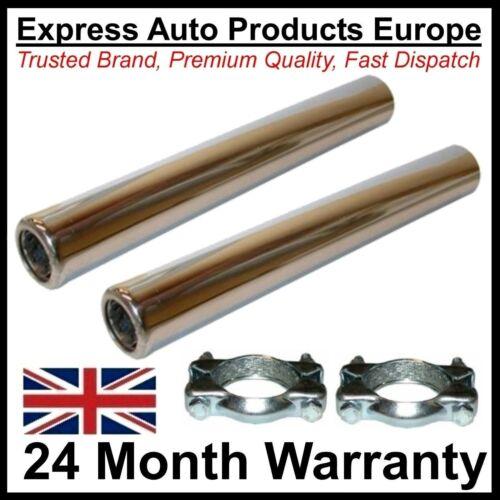 2 x Tubo de Escape Acero Inoxidable Pulido /& Kits VW T1 Beetle Refrigeración Por