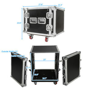 19-034-Space-Rack-Case-Two-Door-10U-DJ-Equipment-Cabinet-for-Audio-Equipment