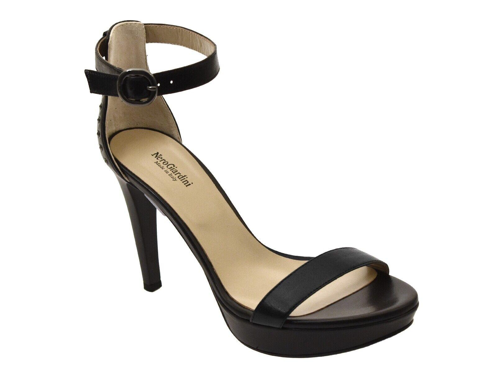 SANDALI femmes noir GIARDINI ESTATE P806050DE 100  GLAMOUR noir