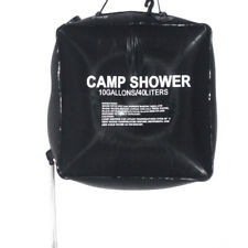 40l 10 Gallon Camping Solar Heated Camp Shower Bag Outdoor Shower Water O5e0