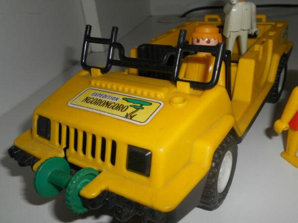 Playmobil Vintage Rare Jeep Spedizione Ngorongoro Safari 120111 Bon Pour L'éNergie Et La Rate