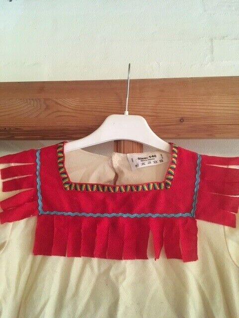 Udklædningstøj, Indianer bluse m. bælte, str. 140