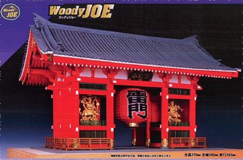 Woody JOE 1 150 Wooden Japanese Building Model Kit Kaminarimon Paint Type