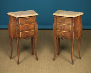 Marble Top Bedside Cabinets C 1930