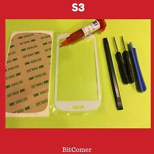 Samsung Galaxy S3 White Front Glass Lens screen Replacement Kit+Tool Glue