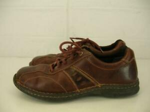 mens 9 m columbia james brn leather casual oxford shoes
