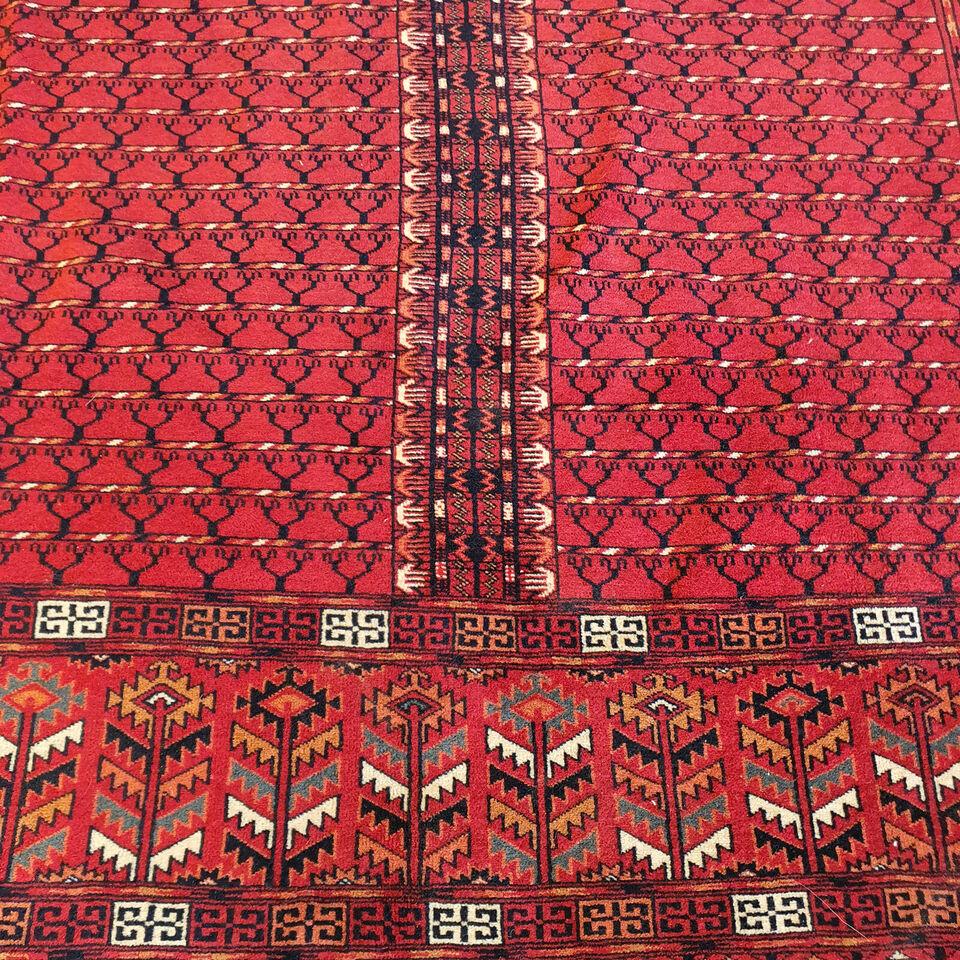 Ægte Håndknyttet Turkmensk  tæppe