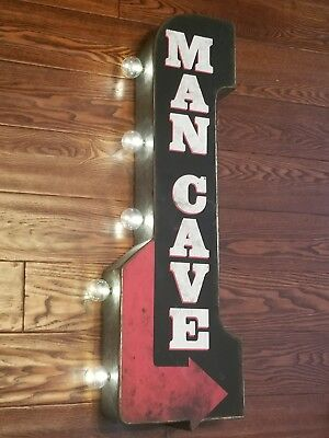 TATTOO Parlor Arrow Double Sided Metal Sign W// LED Lights Man Cave Beer Bar Shop