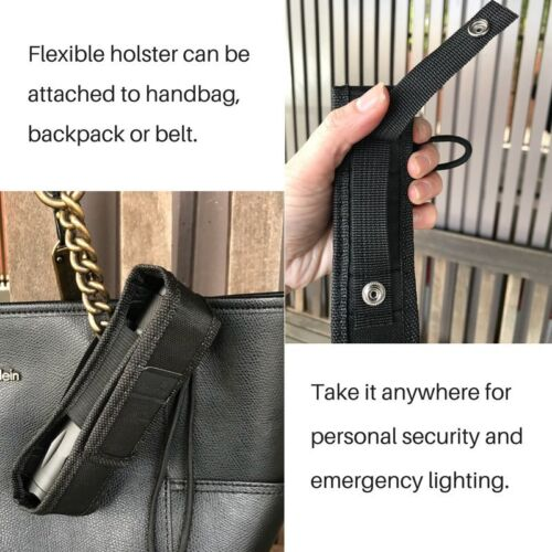 TACTICAL SECURITY LED T6 CREE FLASHLIGHT TORCH BATTERY RECHARGEABLE WITH HOLSTER
