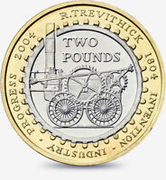 2004 £2 FIRST STEAM LOCOMOTIVES 200TH TWO POUND COIN HUNT 09/32 RARE 2 xx