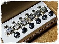 Genuine Fender Vintage 70's style F tuners P.N. 0990822100 chrome 6 inline