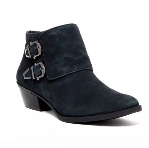 Vince Camuto Trapeez Suede Bootie After Midnight Women Sz 10 M 5469 *