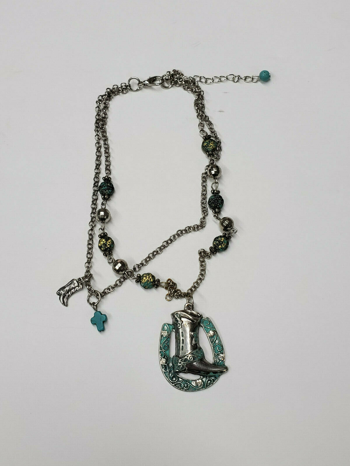 New western & Skull boot anklet chain charm jewelry from BHW & Crooked Fence