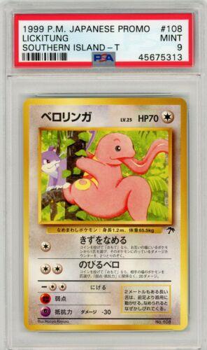 Pokemon Japanese Lickitung Southern Island Tropical Island Promo #108 PSA 9 MINT