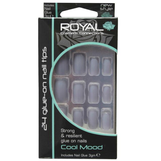 Kit 24 faux ongles & colle gris clair Cool Mood de Royal light grey false nails