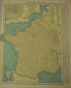 Details about Antique 1929 Frameable Color Map FRANCE Corsica & Paris on map of europe, map of normandy, map of caspian sea, map of strait of hormuz, map of gulf of bothnia, map of arctic ocean, map of england, map of celtic sea, map of wales, map of river thames, map of baltic sea, map of black sea, map of germany, map of moscow, map of rome, map of north sea, map of ural mountains, map of adriatic sea, map of bay of biscay, map of danube river,