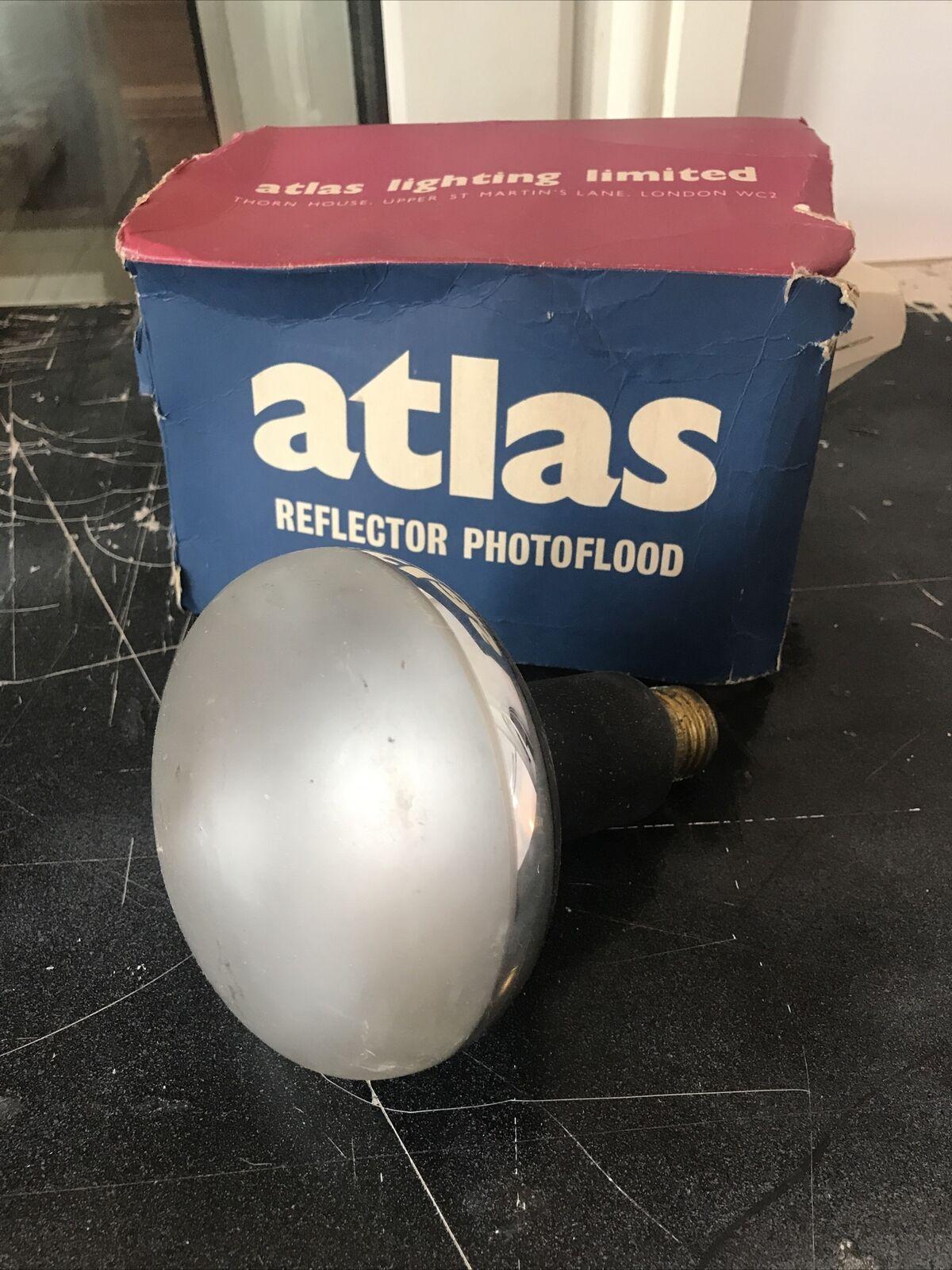 Vintage Atlas Reflector Photoflood Bulb Boxed Untested