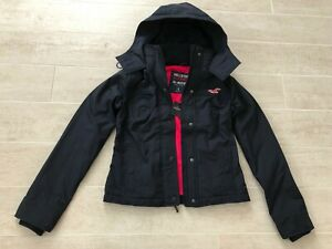 New-Hollister-Abercrombie-amp-Fitch-Women-All-Weather-Hooded-Jacket-Coat-Navy-S