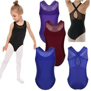 22651345af18 Girls Kids Ballet Gymnastics Leotard Hollow-out Back Dance Jumpsuit ...