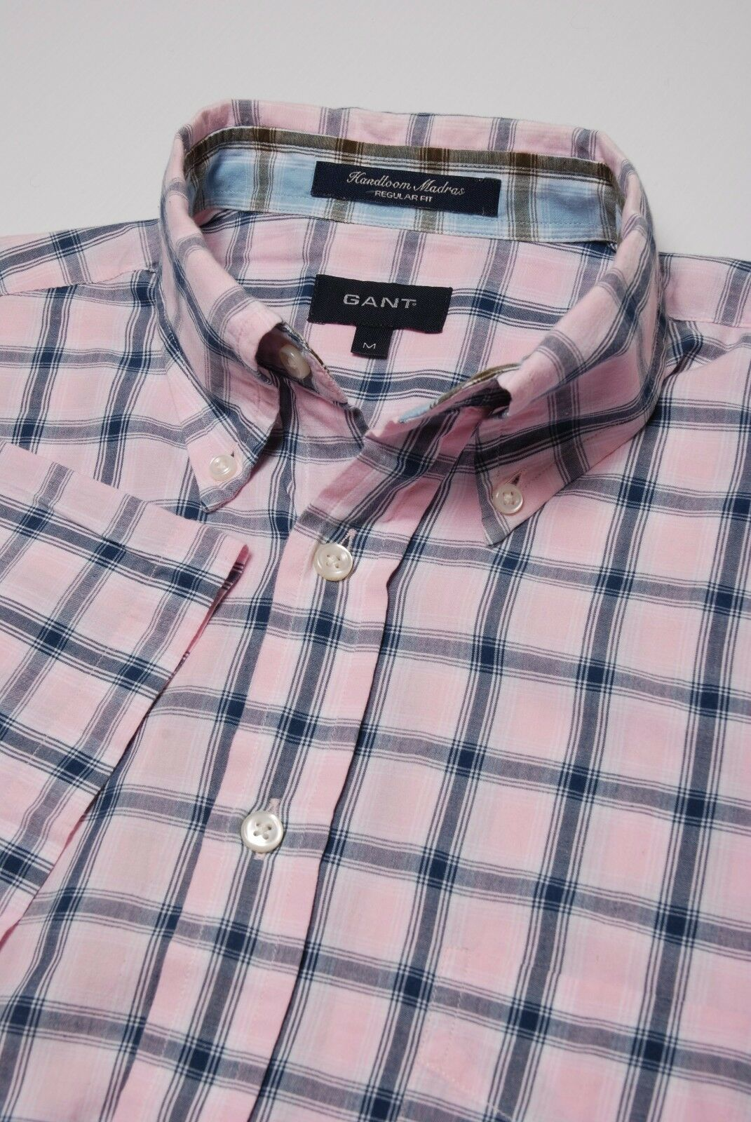 GANT Shirt Medium by Handskull (UK) Chequed style pink bluee