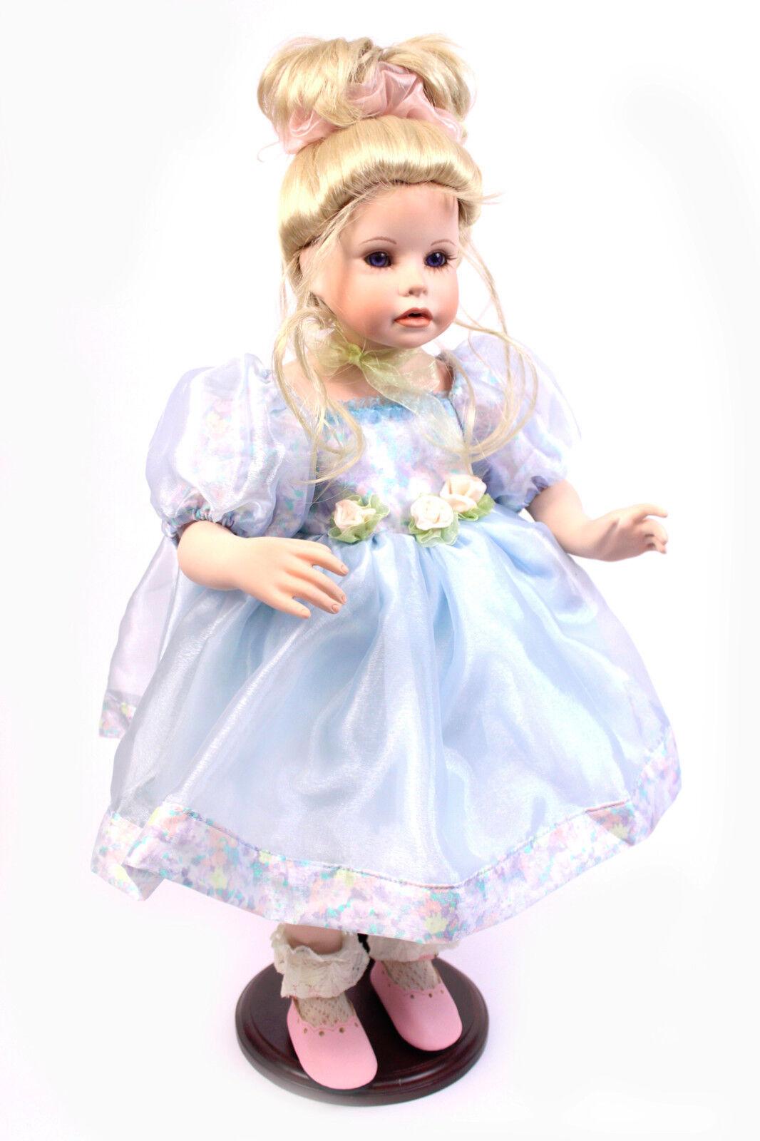 Süße Sammlerpuppen Basar Sammlerpuppe SHIRLEY 59 cm Porzellan Puppe Mädchen Doll