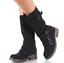 Womens-Zipper-Buckle-Mid-Calf-Boots-Vintage-Buckle-Sz35-43-Combat-Vintage-Shoes thumbnail 2