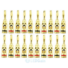 20 pcs X Musical Audio Speaker Cable Wire Connector 4mm Banana Plug USA Ship