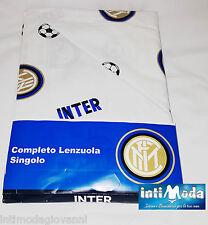 Completo Letto Lenzuola Singolo Inter Internazionale Ufficiale 100% Puro Cotone