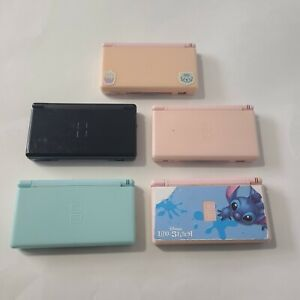 Lot of 5 BROKEN Nintendo DS Lite AS-IS FOR PARTS ONLY! Many Problems; READ Desc!