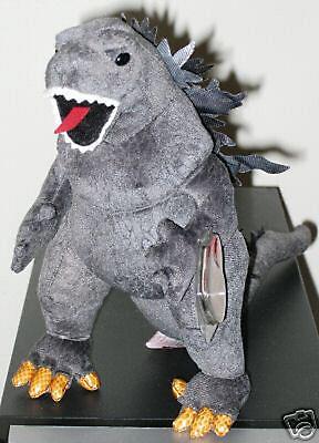 Ty Classic Plush - GODZILLA (Black Eyes - Japan Exclusive) MWMT's ~ Stuffed Toy