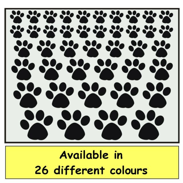 DOG / CATS PAW PRINT SHAPES - SELF ADHESIVE VINYL -  JUST PEEL & STICK