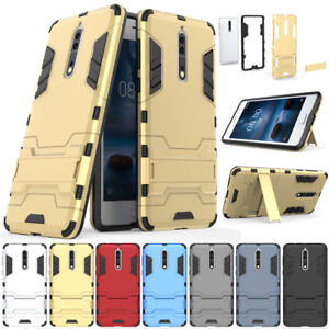 Shockproof-Hybrid-Armor-hard-Case-Kickstand-Protective-Cover-For-Nokia-3-5-6-8