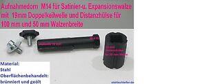 Spanndorn-Aufnahmedorn-Satinierwalze-M14x2-Satiniermaschine-Flex-Metabo