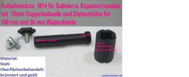 Spanndorn, Aufnahmedorn, Satinierwalze, M14x2, Satiniermaschine, Flex, Metabo,