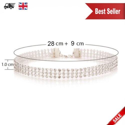 Women Fashion Full Diamond Crystal Rhinestone Choker Necklace Wedding Jewellery