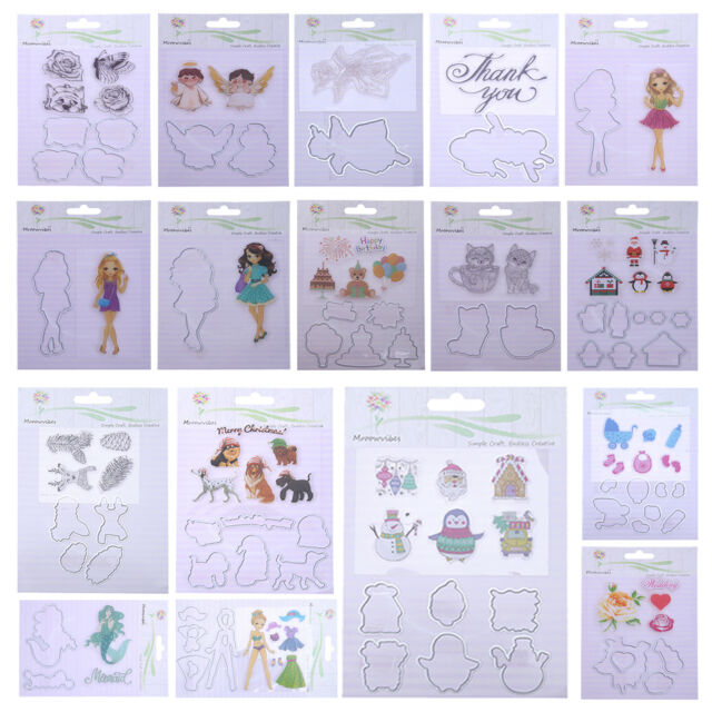 Silicone Clear Stamp & Metal Cutting Dies For Scrapbooking Album Paper DIY Craft