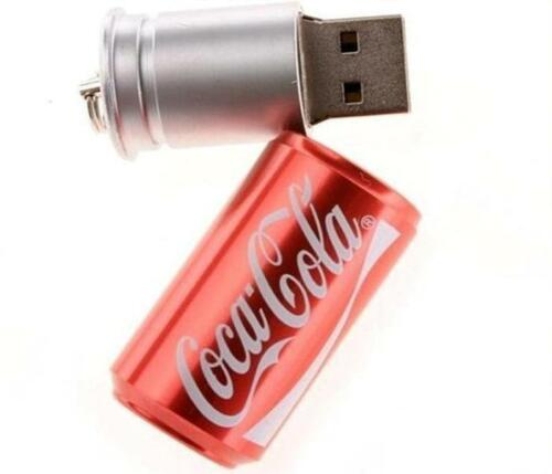 Drink Can UDisk Pen Drive USB 2.0 Flash Drive Stick 2GB-128GB USB Memory Storage