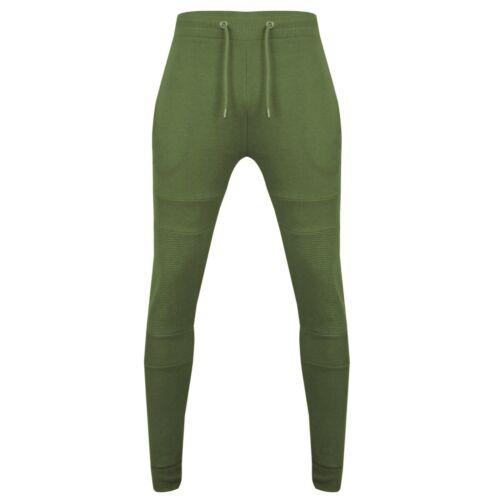 New Men/'s Super Slim Skinny Fit Zip Stretch Bottoms Joggers Pants Trousers