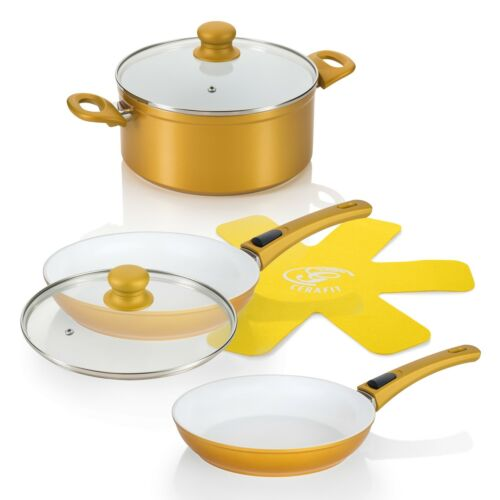 GENIUS-Poêle DELUXE GOLD EDITION Céramique Poêles Pot Set 24491 Prix Recommandé 185,95 €