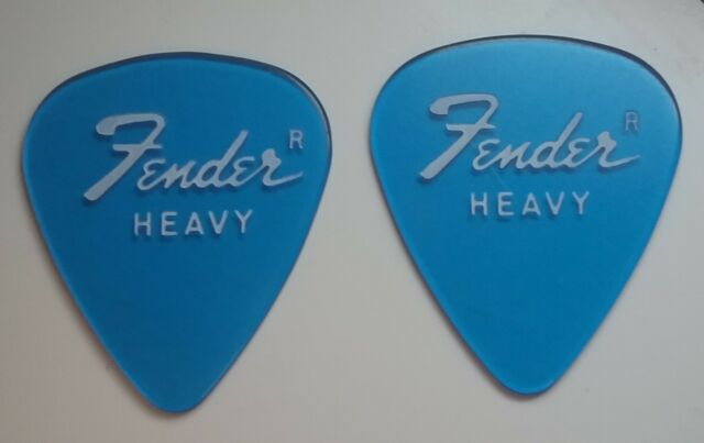 Set of 2 Vintage Clear Blue Fender Guitar Picks RARE!!!