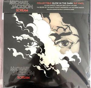 Michael-Jackson-2xLP-Scream-Translucent-Blue-Vinyl-Europe-VG-M
